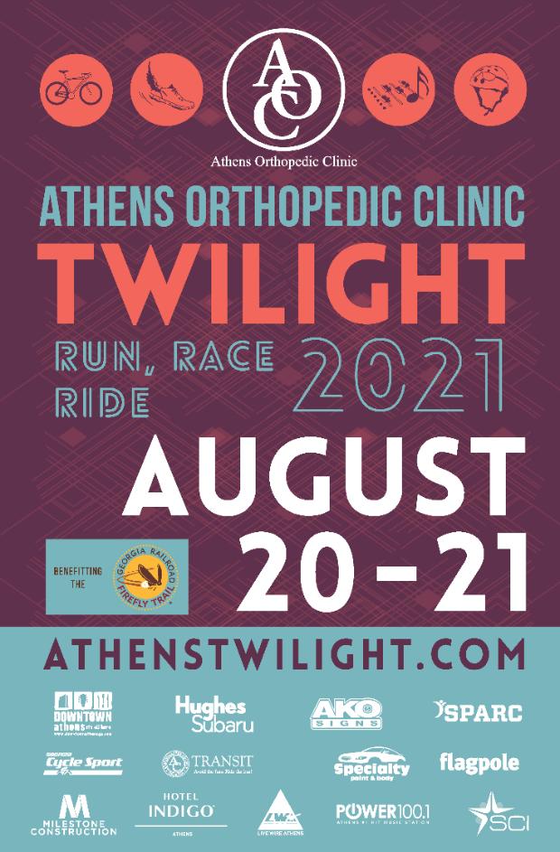 Athens Twilight 2021 race promo graphic
