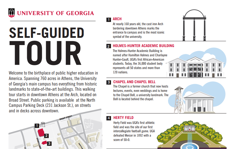 uga self guided tour map thumbnail