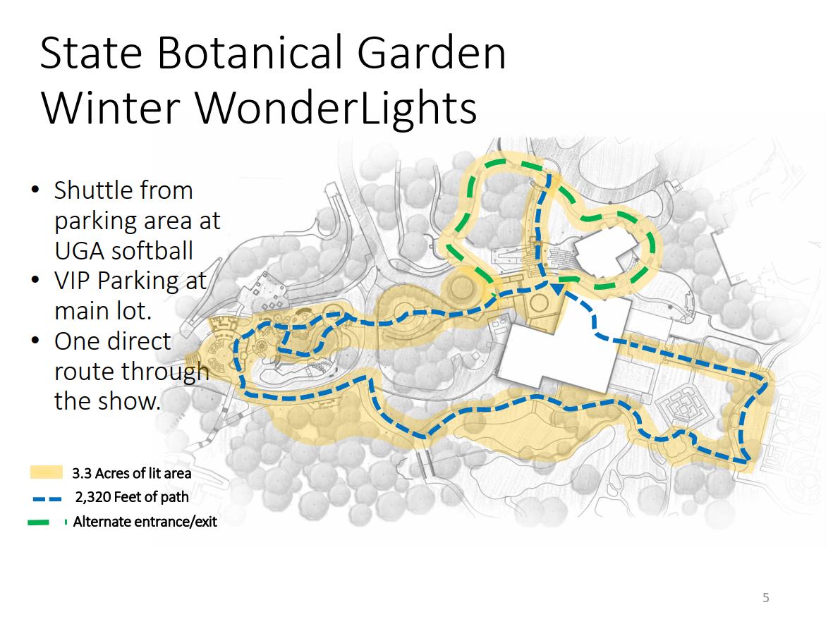 Winter Wonderlights Parking